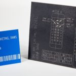 Laser Engraved Barcode and Schematic