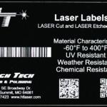 Laser Engraved Label